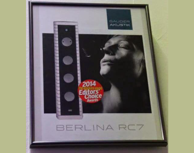 GAUDER AKUSTIK BERLINA RC-7, EDITORS CHOICE 2014 POR THE ABSOLUTE SOUND
