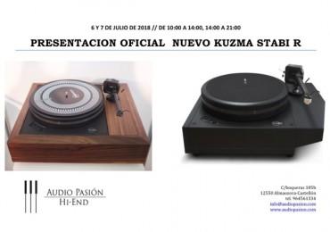6 y 7 de Julio, presentación del nuevo Kuzma Stabi R en Audio Pasión