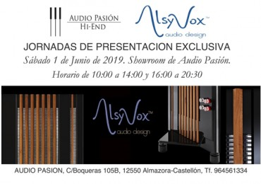 Altavoces Alsyvox, Jornadas de presentación 1 de Junio